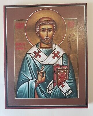 HOLY HIERARCH CHAD OF LICHFIELD, APOSTLE OF MERCIA, WONDERWORKER, orthodox icon