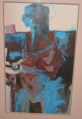 Larry Walker African American Artist Painting 15X21 Framed Father Kara