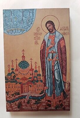 Great Prince Alexander Nevsky, Orthodox Icon, Size 6, 10/16 x 10, 8/16 inches