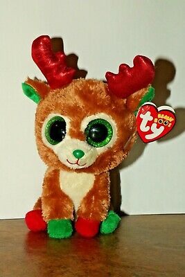 1e2c4d4f1e9 TY BEANIE BOO Reindeer named Alpine with Red Tag -  17.00