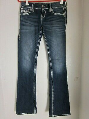 285789b81 ROCK REVIVAL SHERRY Skinny Distressed Studded Jeans Size 25 - $36.99 ...