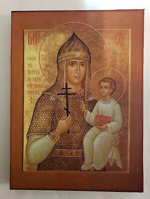 Mother of God the Warior, Orthodox  Icon, 7, 8/16 x 10 inches
