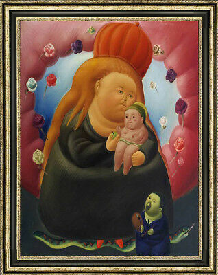 "Hand-painted Oil painting art Reproduction of Fernando Botero Virgin Mary30""X40"""
