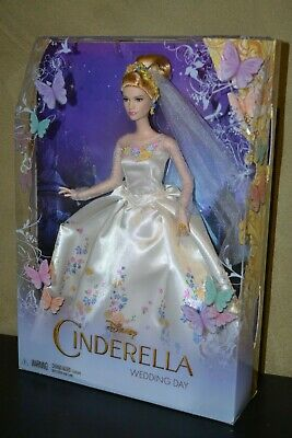 Brand New Barbie Doll 2014 Disney Cinderella Collector Barbie Wedding Day Doll