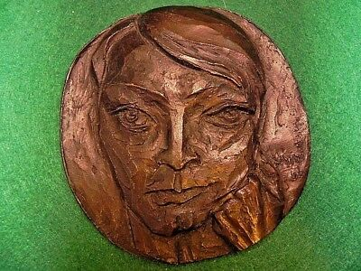 Vintage One Of A Kind Solid Bronze Artist Plaque Signed By Hwd In 1966
