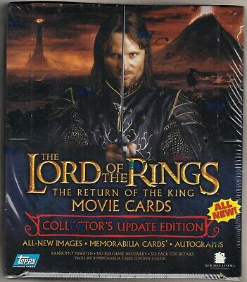 Topps Lord of the Rings Movie Cards The Return of the King Updated Edition Seale