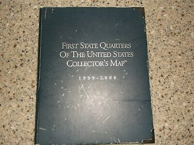 First State Quarters of The United States Collector's Map 1999-2008  Complete