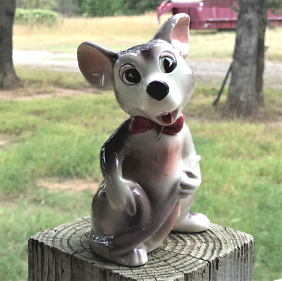 """Lipper and Mann Creations Japan 6.5"""" Anthropomorphic Mouse Figurine 1950 Vintage"""