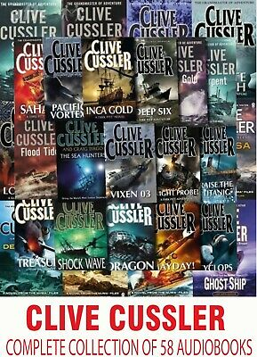 Clive Cussler - Complete Collection of 58 Audiobooks MP3-DVD Unabridged
