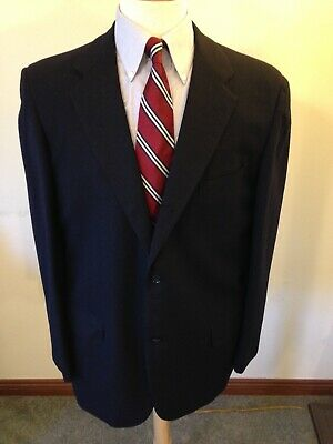 Men's Vintage Brooks Brothers 346 3/2 Roll Sack Navy Wool Blazer-42L Trad Ivy