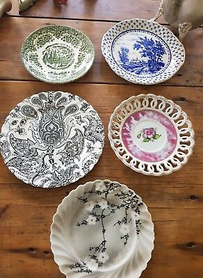 5 Vintage English plates and saucers