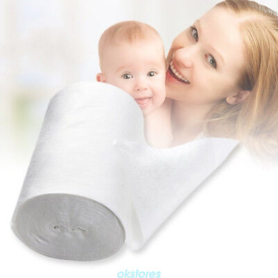 Baby Flushable Disposable Cloth Nappy Diaper Bamboo Liners 100Sheet for 1 Roll R