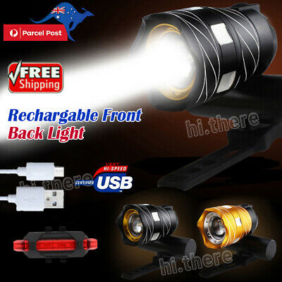 Bike Front Light Bicycle LED Lamp Headlight Flashlight USB Rechargable 15000LM
