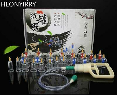 24Pcs Massage Cans Health Monitors Chinese Cupping Therapy