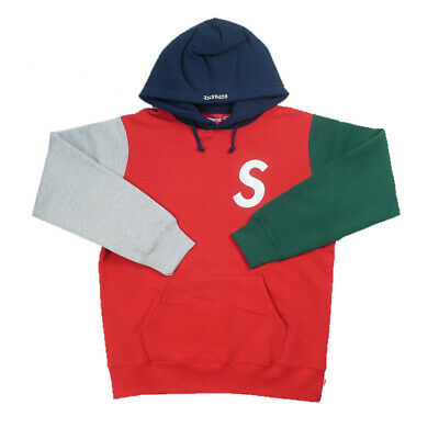 2cede5dd SUPREME SS19 S Logo Colorblocked Hooded Sweatshirt - Red M ...