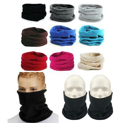 Outdoor Riding Fleece Neckerchief Pullover Neck Gaiter Winter Headwear Mask Hat