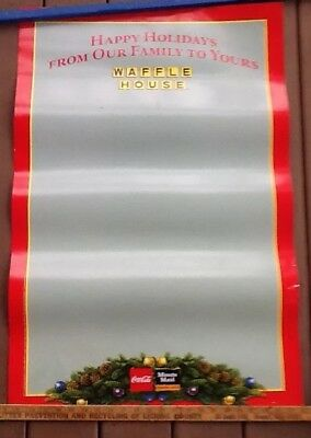 """Waffle House Photo, Bulletin, Or Message Board Holiday Themed Poster 23x35"""""""