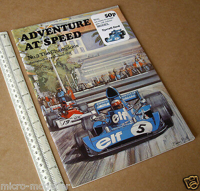 Tyrrell-Ford Racing Car 1974 Press-out Model Book Adventure at Speed 3 Champions