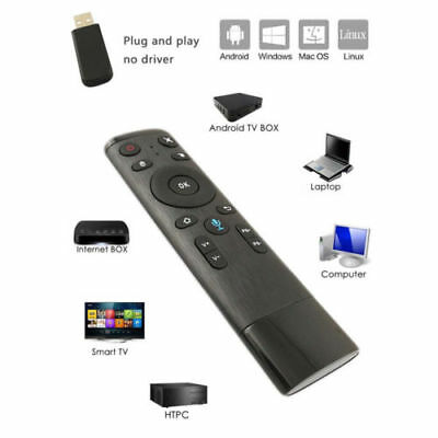 2.4G Voice Input Remote Control Wireless Keyboard Air Mouse For Android Mac OS