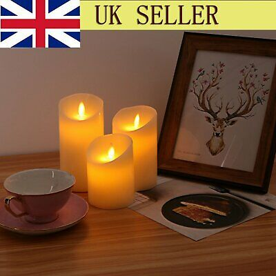 3pack Led Tea Candles Light Flameless Flickering Fake Battery Tealight Party Hot