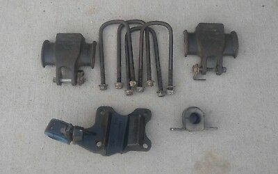 1999-2004 Ford F250 F350 Excursion Dana 50 60 Front Axle Spring Plates & U-Bolts