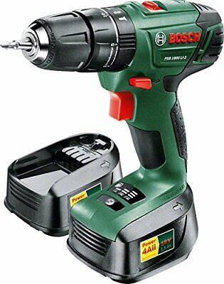 Bosch PSB 1800 LI-2 Cordless Combi Drill with Two 18 V Lithium-Ion Batteries