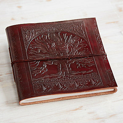 Fair Trade Handmade Large Tree Of Life Embossed Leather Photo Album 2nd Quality