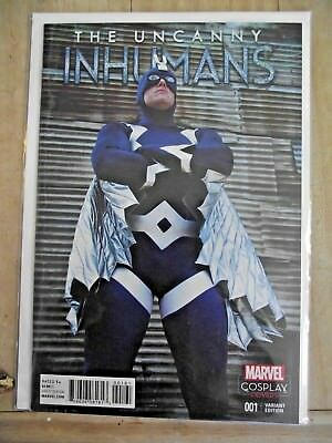 The Uncanny Inhumans #1 Cosplay cover variant Blue Bolt on cover 2015 NM-