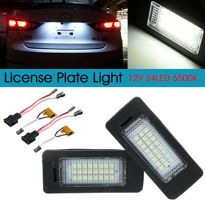 2x LED License Number Plate Light Lamp For Audi A4 A5 Q5 TT VW Passat 8T0943021
