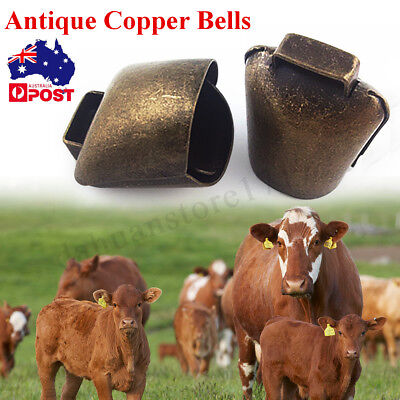 Antique Copper Bells Wind Chime Sheep Dog Cow Horse Bell Decor Yard Farm Outdoor