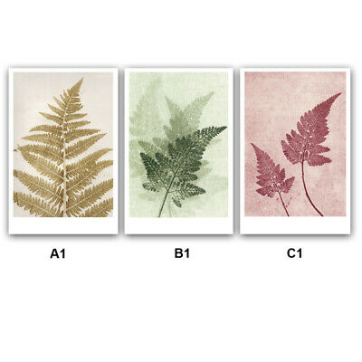 Nordic Creative Plant Leaf Wall Painting Art Print Picture Home Hotel Deco QUQ