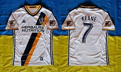 aeffc0f2f Robbie Keane La Galaxy 2017 2018 Home White Shirt Adidas Size Men Adult M