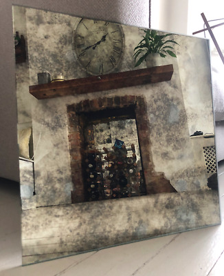 **SAMPLE PIECE** Antique Distressed Foxed Mirror Glass Tiles -APPROX 200 X 200mm