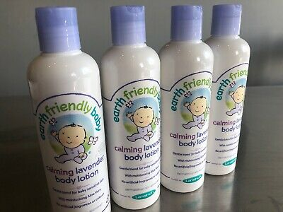 Earth Friendly Baby Calming Lavender Body Lotion X 4 250ml EcoCert