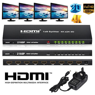 1080P HDMI Extender HDMI Repeater 60m Over Single Cat6 Cat7 Ethernet Cables New