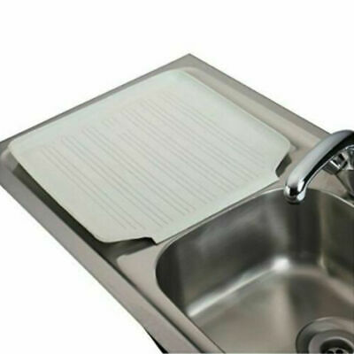 Large Kitchen Sink Rubber Draining Board Mat Rack Tray Protector Belfast Caravan