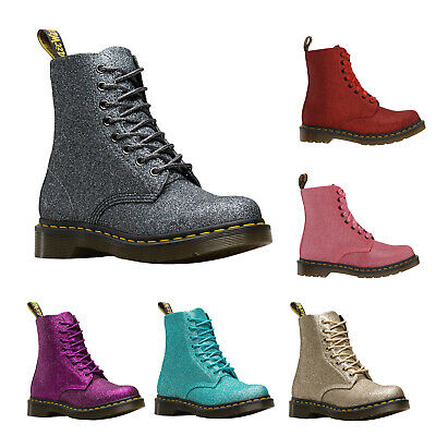 c694e0c7d58a DR. MARTENS Women's 1460 Pascal Flame Red Glitter Boot ALL Sizes ...
