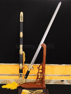 Hand Forged Chinese Sword Jian Folded Steel Blade Sharp Real Cut For Practice