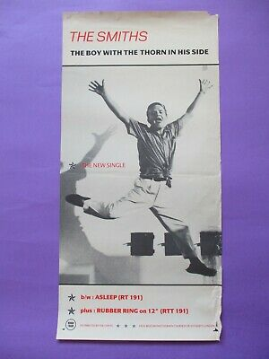 The Smiths Boy With The Thorn In His Side ORIGINAL PROMO POSTER UK Rough Trade