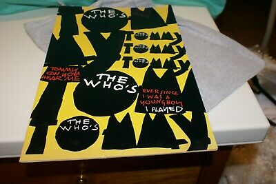 dd2aa4859 The Who-Tommy Broadway Musical-Concert Program Book Lot-Pete Townshend-1993