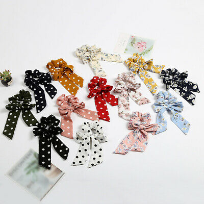 Elastic Scrunchie Hair Ties Ring Rope Bow Accessories Band Ponytail Holder Charm