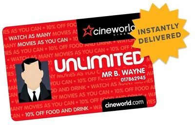 Cineworld Unlimited 12 Months Excl West End - (RRP £214.80) Limited Offer