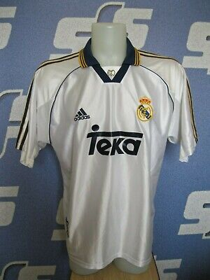c4c81ed791d Real Madrid 1998 1999 2000 home Sz L Adidas shirt jersey maillot football  soccer