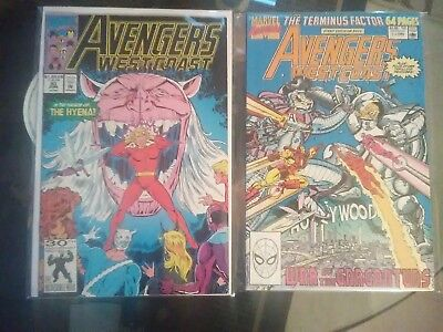 Avengers West Coast 83 and Annual 5 (Marvel 1990) very fine condition