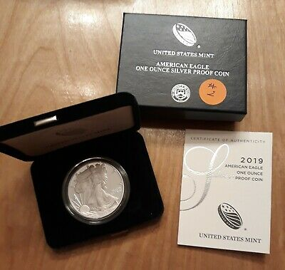 2019 American Eagle One Ounce Silver Proof Coin w/ Box & COA