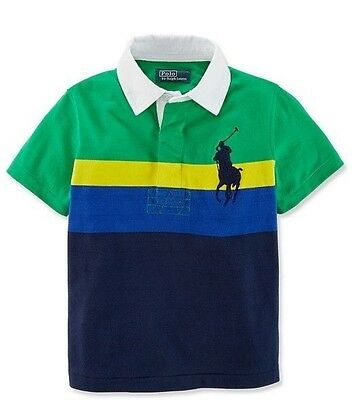 Ralph Lauren Polo T - Shirts Baby Boys Short Sleeve Kids Striped Size 2T