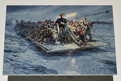 Mort Kunstler - Washington Crossing -  Canvas - Revolutionary War