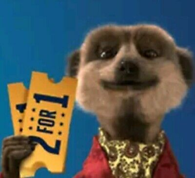 MEERKAT MOVIES 2-for-1 CINEMA FILM TICKET CODE • for 26th-27th March 2019