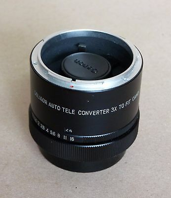 SOLIGOR Auto Tele CONVERTER 3x for Canon fit – MADE IN JAPAN Photo Vintage Lens