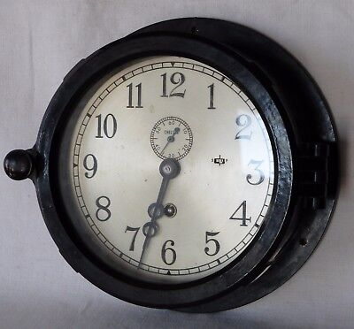 Antique Chelsea Ship Clock Co. Maritime Nautical Chronometer Navy Bakelite